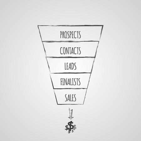 Sales funnel infographic. Vector illustratie.