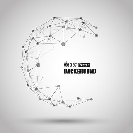 wereldbol: 3d geometrische vector achtergrond voor het bedrijfsleven of de wetenschap presentatie.