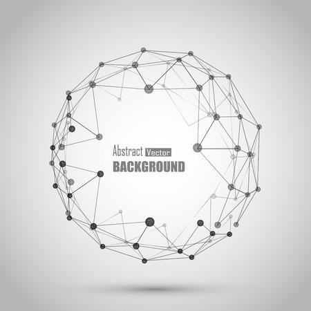 3d vector de fondo geométrico de presentación de negocios o de la ciencia.
