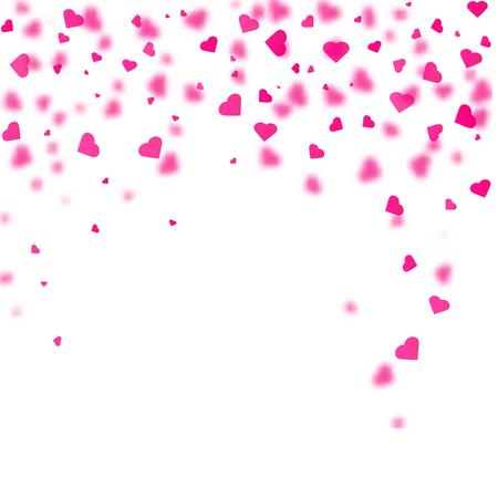 Hartvormige confetti naar beneden vallen. Vector illustratie Stock Illustratie
