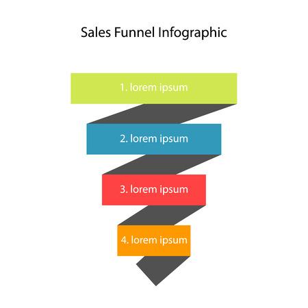 Sales funnel. Vector Reklamní fotografie - 46611445