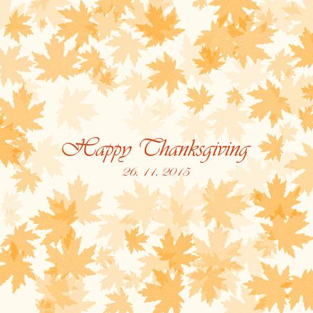 autumn background: Happy thanksgiving autumn background. Vector