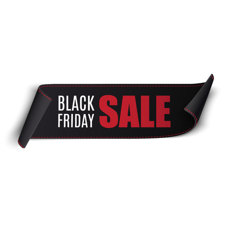 Black Friday vector sale banner. Can be used for flyers, banners or posters. Illustration