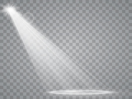 shine: Abstract Spotlight isolated on transparent background. Light Effects.