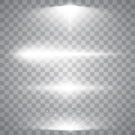 Abstract image of lighting flare. Set of light effects Illustration
