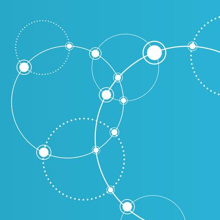 conexiones concepto. Las líneas y los puntos conectados. signo de la red Ilustración de vector