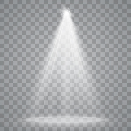 glowing: Abstract Spotlight isolated on transparent background. Light Effects.