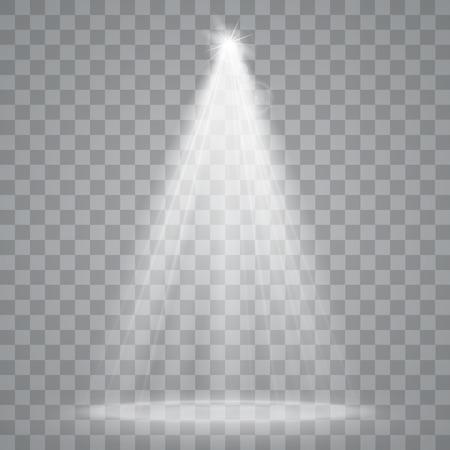 licht: Abstrakt Spotlight isoliert auf transparentem Hintergrund. Lichteffekte.