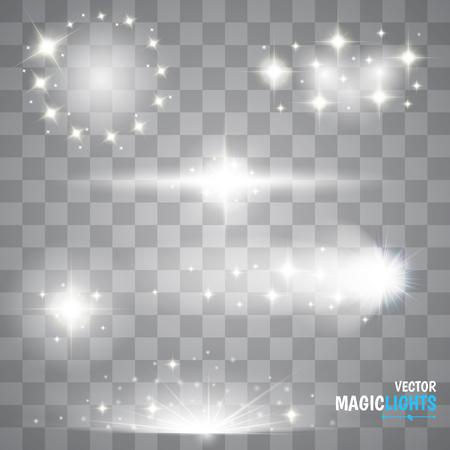 Glow speciaal effect licht, gloed, ster en barsten. geïsoleerde vonk