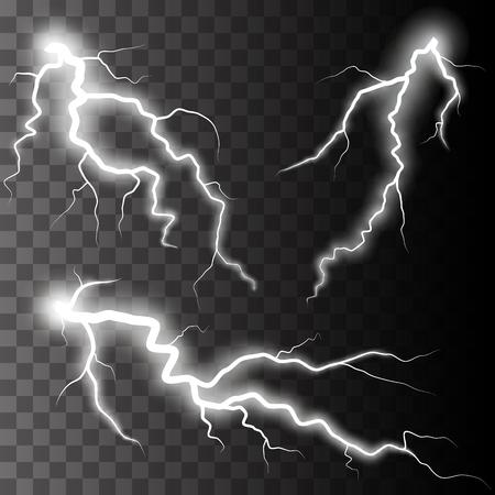 magie: Jeu de foudre. Thunder-tempête et des éclairs. Magie et des effets d'éclairage lumineux. Illustration