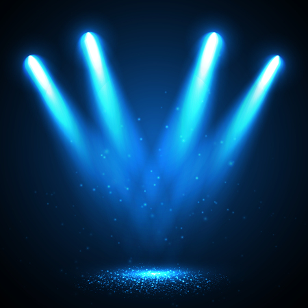 Abstract  Vector Spotlight isolated on transparent background. Light Effects.  イラスト・ベクター素材