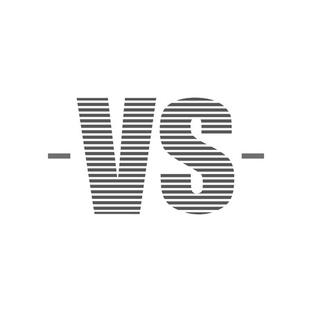 versus: Versus Logo. VS Vector Letters Illustration isolated on white background
