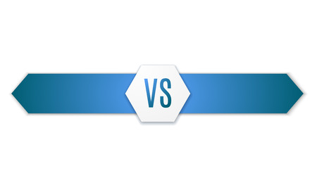 fight: Versus Logo. VS Vector Letters Illustration isolated on white background