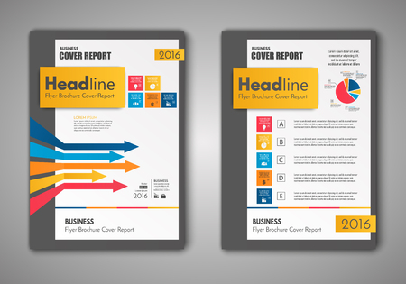 Vector Brochure Flyer design Layout template, size A4, Front page and back page, business infographics. Easy to use and edit.