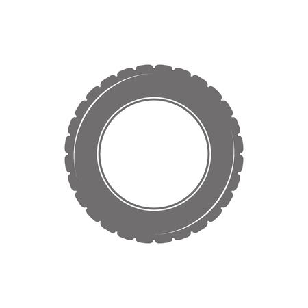tubeless: Car tyre icon isolated on white background Illustration
