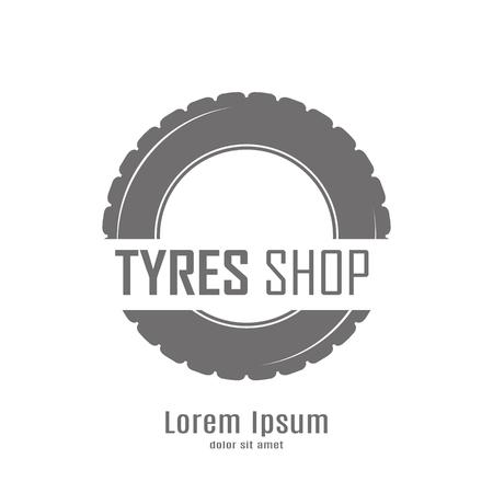 tire shop: Wheels Shop Logo Design - Wheels Business Branding Illustration