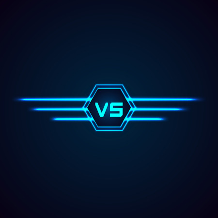 Versus Logo. VS Vector Letters Illustration isolated on white background
