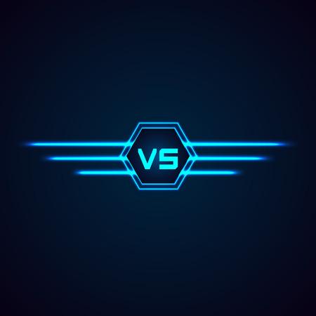 competencia: Versus Logo. VS vector Cartas Ilustración aislada en el fondo blanco Vectores