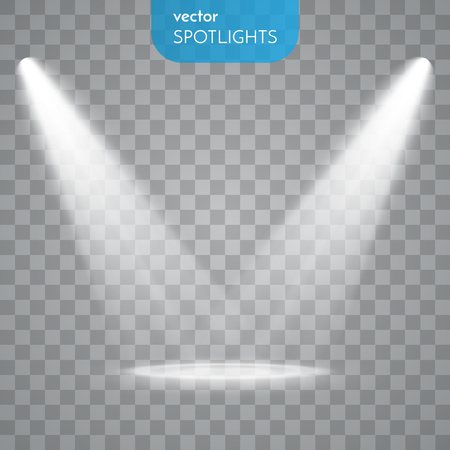 light rays: Abstract Spotlight isolated on transparent background. Light Effects.
