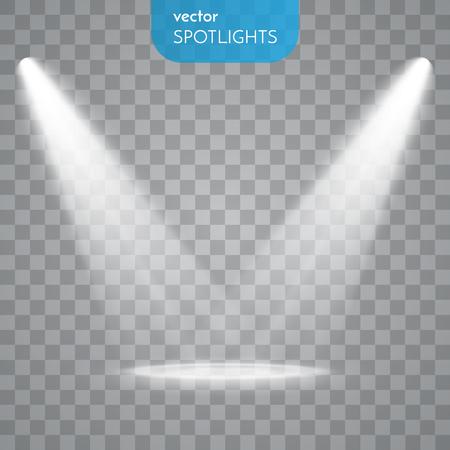 luz: Extracto concreto aislado en el fondo transparente. Efectos de luz.
