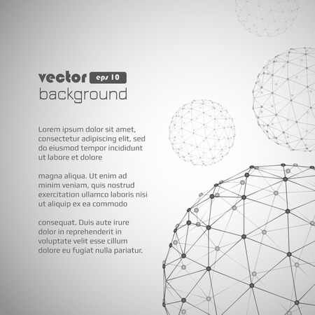 3d geometric background for business or science presentation. Ilustracja