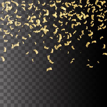 Esplosione d'oro di confetti. Oro granuloso texture astratta su sfondo nero. Elemento di design. Archivio Fotografico - 50158535