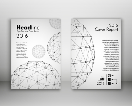 magazine cover: Science design vector template layout for magazine brochure flyer booklet cover annual report in A4 size.