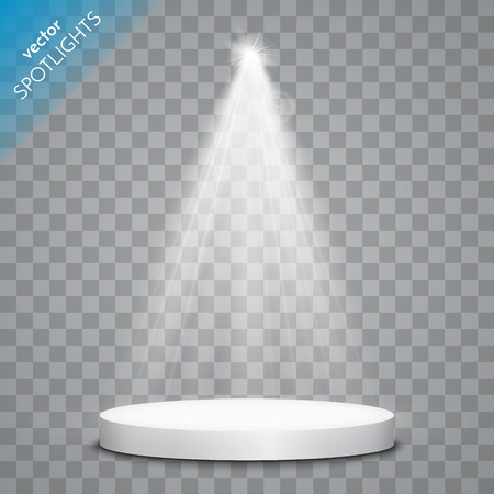 spotlight on stage: Abstract  Vector Spotlight isolated on transparent background. Light Effects. Illustration