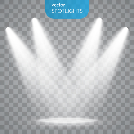 transparent background: Abstract  Vector Spotlight isolated on transparent background. Light Effects. Illustration