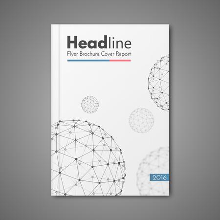 informe: diseño de la ciencia plantilla de diseño vectorial para folleto folleto folleto de la revista cubre el informe anual de tamaño A4.