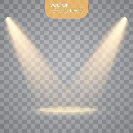 Abstract Vector Spotlight geïsoleerd op een transparante achtergrond. Lichteffecten. Vector Illustratie