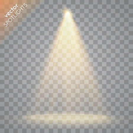 Abstract  Vector Spotlight isolated on transparent background. Light Effects. Ilustração