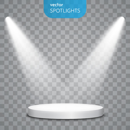 Abstract  Vector Spotlight isolated on transparent background. Light Effects. 일러스트