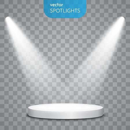 Abstract Vector Spotlight geïsoleerd op een transparante achtergrond. Lichteffecten.