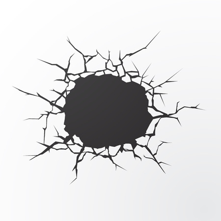 cracked earth: Vector Cracks. Cracked Earth concept with place for text.
