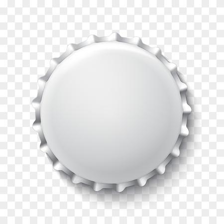 Realistic white bottle cap. Vector illustration for your artwork