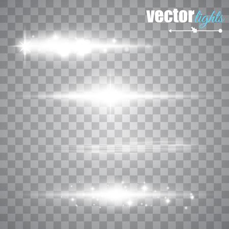 Speciale lijn flare lichteffecten voor ontwerp en inrichting. Vector illustratie