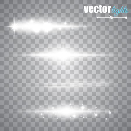 Special line flare light effects for design and decor. Vector illustration