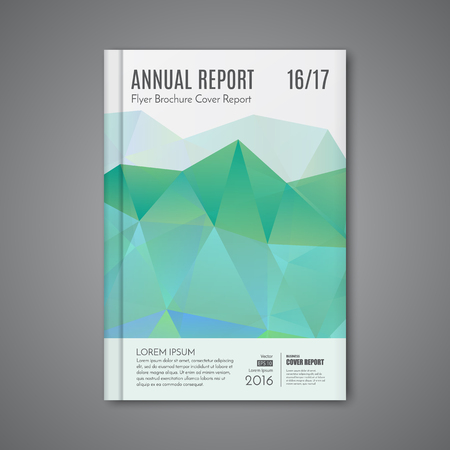 book cover design: Abstract low polygonal shape background for corporate business annual report book cover brochure flyer poster.