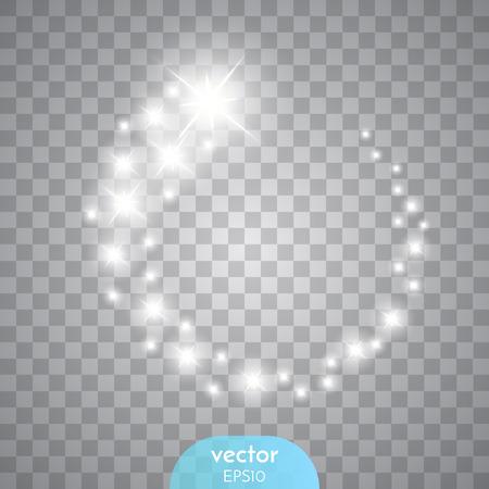 Vector gloeiende sterren, lichten en schittert.