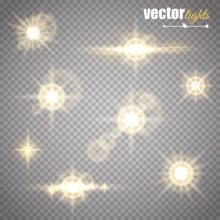 Abstraktes Bild der Beleuchtung Akzent. Vektorgrafik