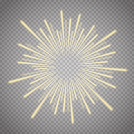 Vector illustration of bright flash, explosion or burst isolated on transparent background. Vector illustration Ilustracja