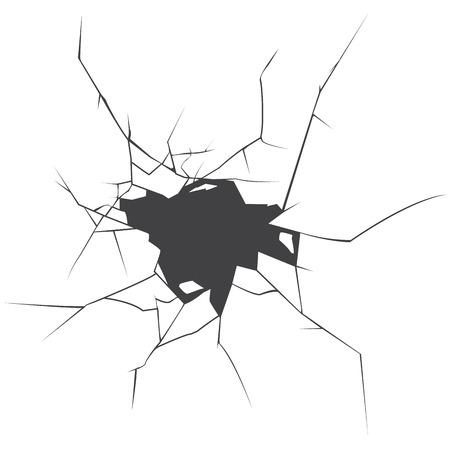 Las grietas del vector. Agrietado de la tierra. Resumen ilustración vectorial