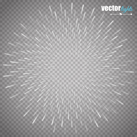sun flares: illustration of bright flash, explosion or burst isolated on transparent background. Illustration