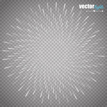 ilustración de destello brillante, explosión o estallido aislado en el fondo transparente. Ilustración de vector