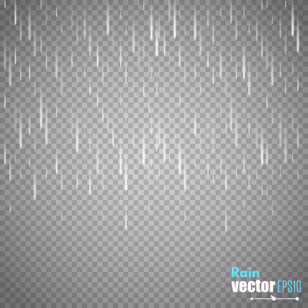 lluvia: lluvia vector aislada en el fondo transparente.