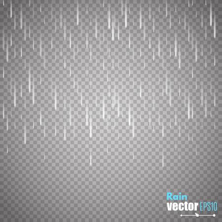 Wektor deszczu samodzielnie na przezroczystym tle.