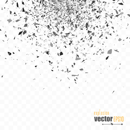 Explosion cloud of black pieces. Vetores