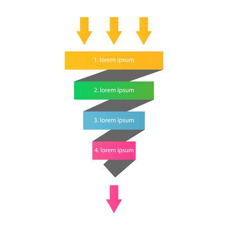 Embudo de ventas plantilla de infografía.