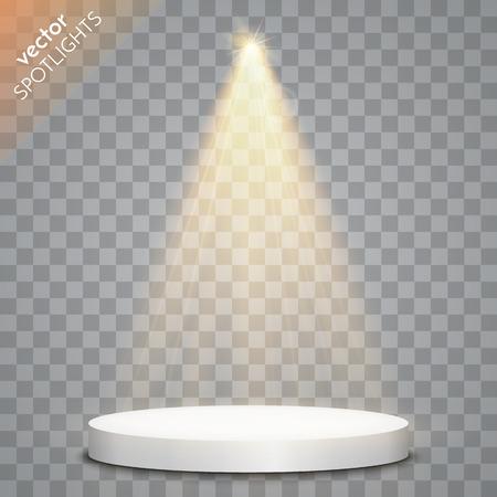 Vector Spotlights. Scène. Effets de lumière. Vector illustration Banque d'images - 55679419